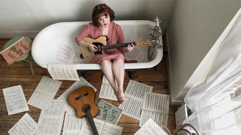 lettore mp3 in bagno